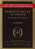 Robert's Rules of Order Newly Revised, 11th edition (Robert's Rules of Order (Hardcover))