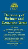 Dictionary of Business and Economics Terms (Barron's Business Dictionaries)