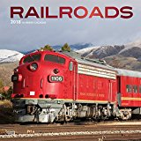 Railroads 2018 12 x 12 Inch Monthly Square Wall Calendar with Foil Stamped Cover, Train Rail Transportation