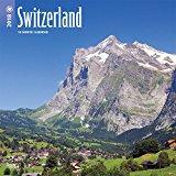 Switzerland 2018 12 x 12 Inch Monthly Square Wall Calendar, Scenic Travel Europe Swiss Alps