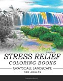Stress Relief Coloring Books GRAYSCALE Landscape for Adults Volume 2 (Stress Relief GRAYSCALE)